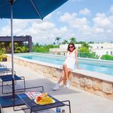 Urlaubsgrüße: Collien Ulmen-Fernandez posiert in Mexiko am Pool