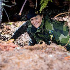 Schwedische Royals: Prinzessin Victoria nimmt an einer Militär-Übung teil