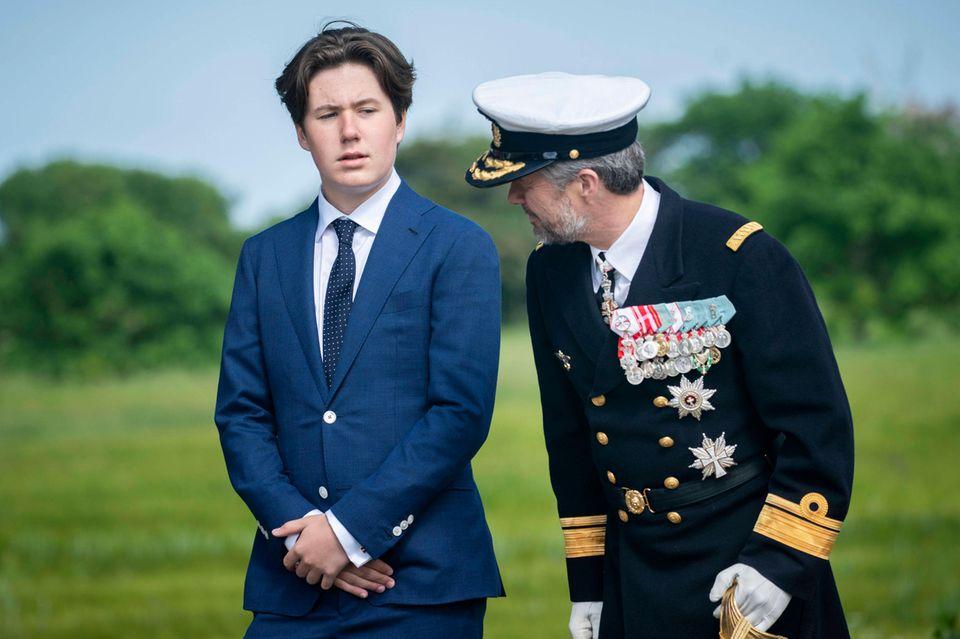 Prinz Christian und Vater Prinz Frederik von Dänemark