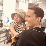 Mandy Moore und Baby August am Set