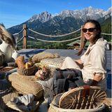 Janina Uhse feiert Geburtstag in den Bergen