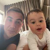 Mario Götze und Sohn Rome