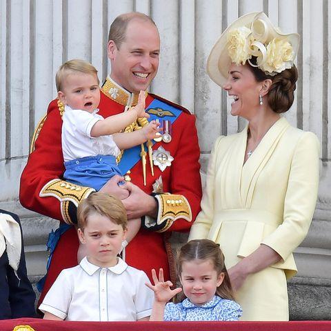 Prinz William und Herzogin Catherine mit ihren Kindern Prinz George, Prinz Louis und Prinzessin Charlotte.
