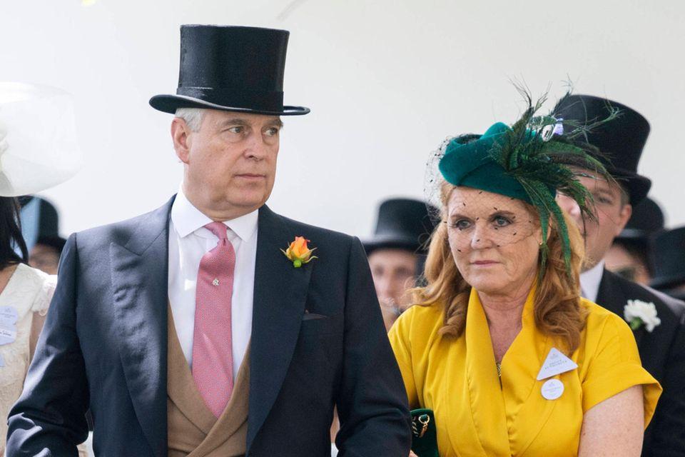 Prinz Andrew und Sarah Ferguson im Juni 2019 beim Pferderennen in Royal Ascot