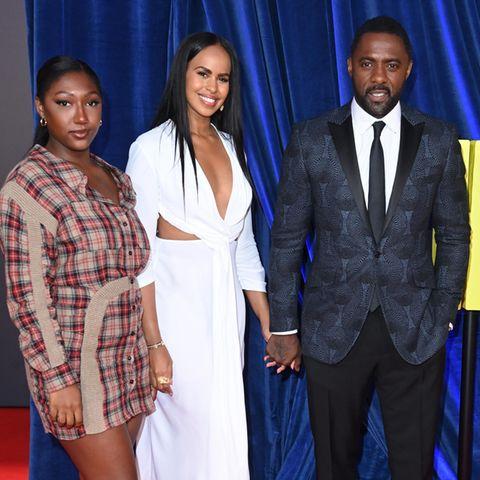 Isan Elber, Sabrina Dhowre Elba und Idris Elba posieren auf dem Red Carpet für die Fotografen.