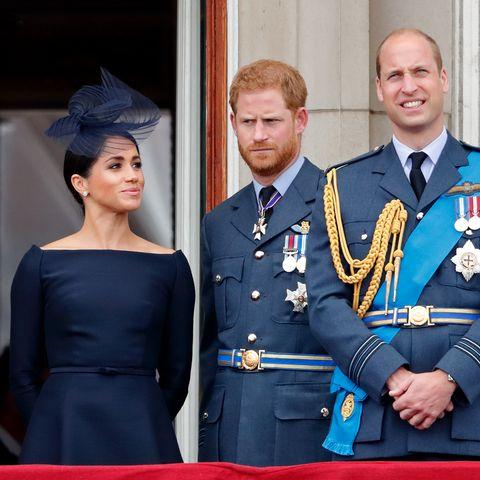Herzogin Meghan, Prinz Harry, Prinz William und Herzogin Catherine