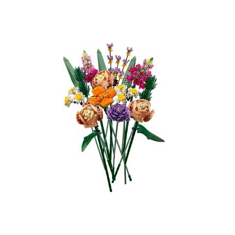 Immergrün Blumen, die nie verwelken – schön wär's, oder? Die gibt es tatsächlich, sogar zum Selbstzusammenbauen, Kindheitserinnerungen inklusive. Von LEGO, Strauß ca. 40 Euro.