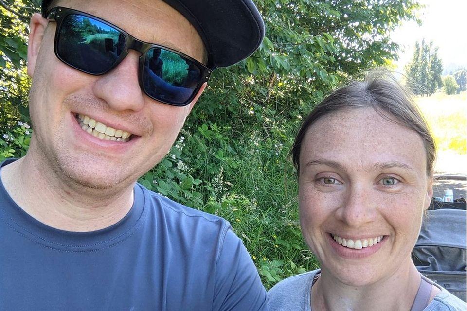 Janina Reimann und ihr Mann Coleman