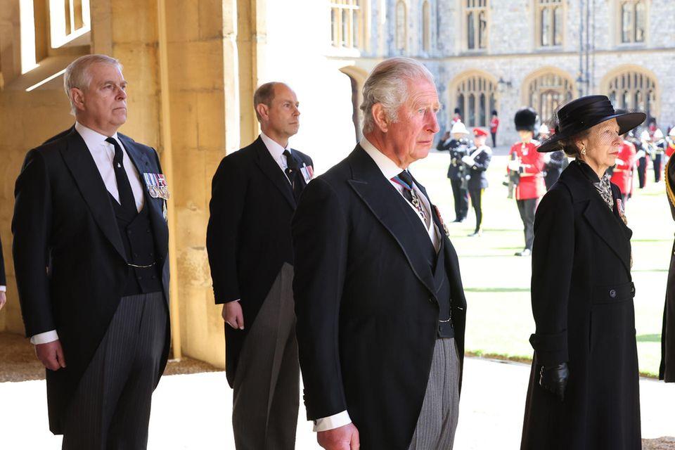 Prinz Andrew, Prinz Edward, Prinz Charles und Prinzessin Anne