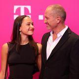 Wer sonst noch feiert: Benno Fürmann und Tochter Zoe beim Telekom-Event