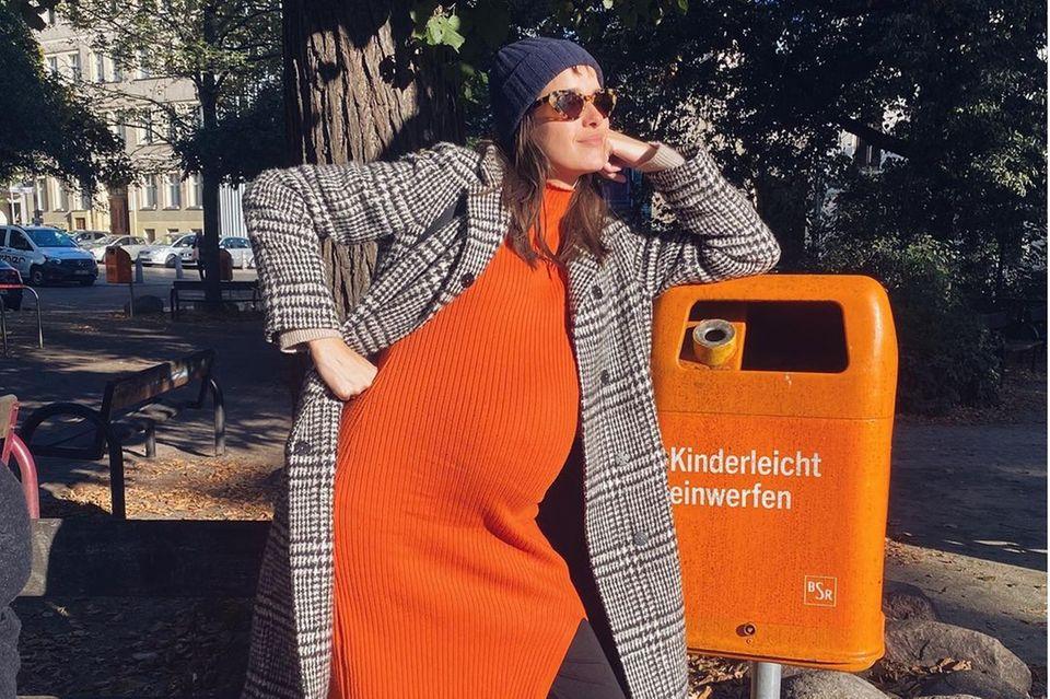 Marie Nasemann hochschwanger