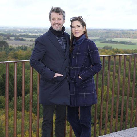 RTK: Kronprinzenpaar Frederik und Mary bei Besuch des Waldturms