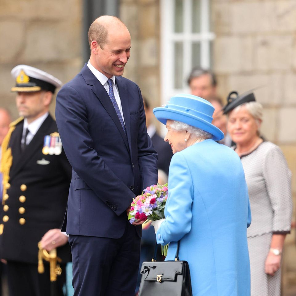 Bei der Ceremony of the Keys im Holyroodhouse Palace