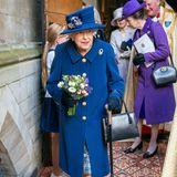 Windsor RTK: Queen Elizabeth und Prinzessin Anne beim Gottesdienst in London