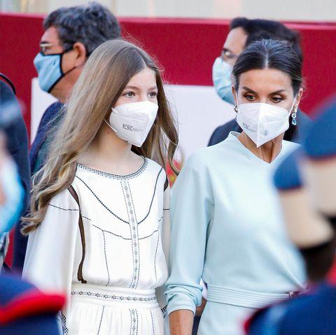 Infantin Sofia und Königin Letizia von Spanien