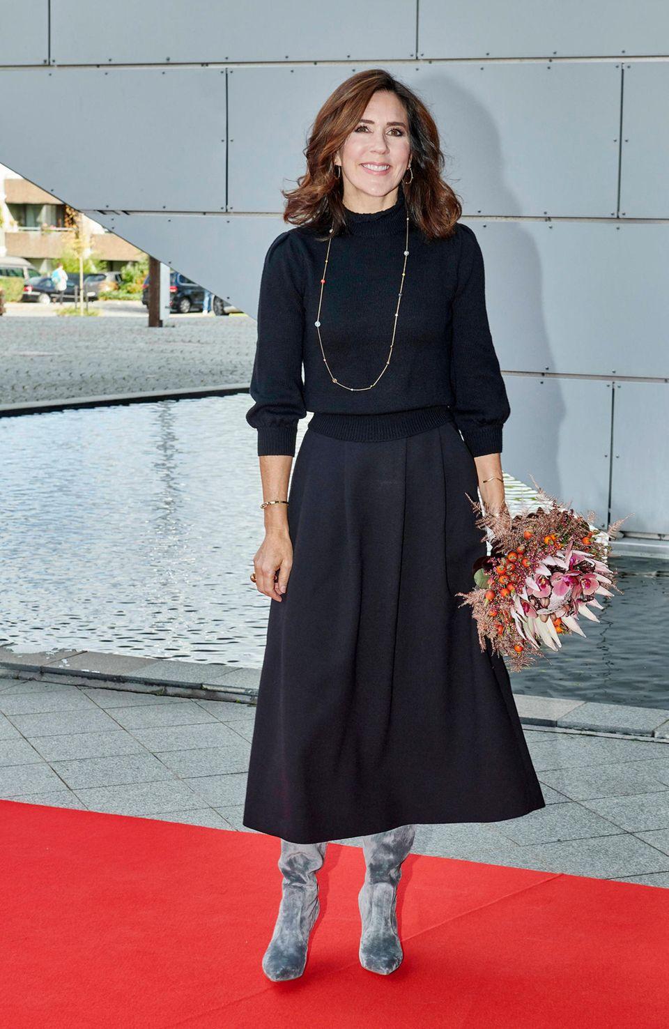 Kronprinzessin Mary besucht anlässlich desInternationalen Mädchentags einGymnasium in Naerum, Dänemark.
