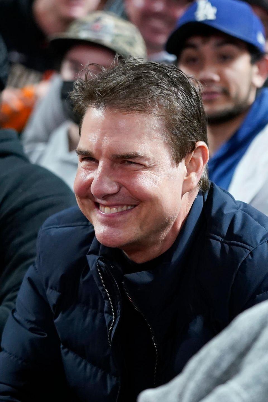 Tom Cruise wirkte gelöst und fröhlich