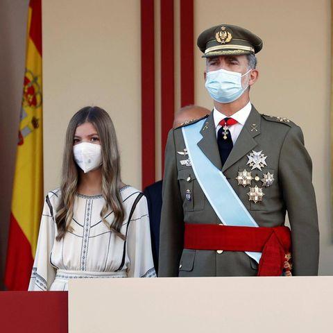 Prinzessin Sofía, König Felipe und Königin Letizia