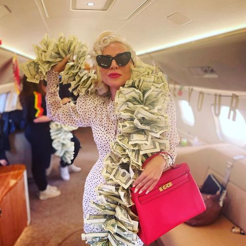 Lady Gaga im Privatjet