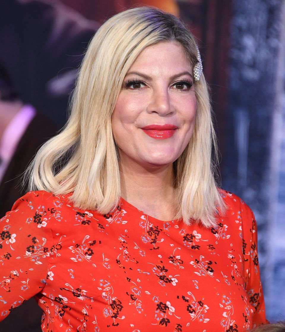 Tori Spelling 2019 in Hollywood mit deutlich weniger Botox und Weichzeichner, als jetzt