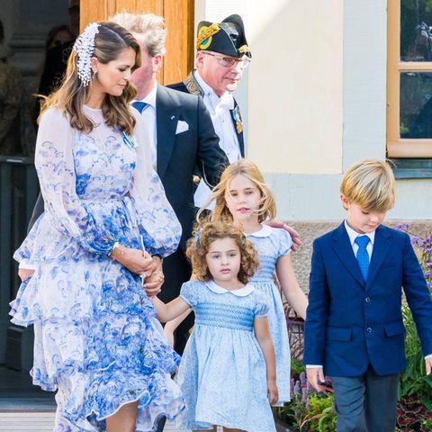 V.l.n.r.: Prinzessin Madeleine, Prinzessin Adrienne , Prinzessin Leonore und Prinz Nicolas