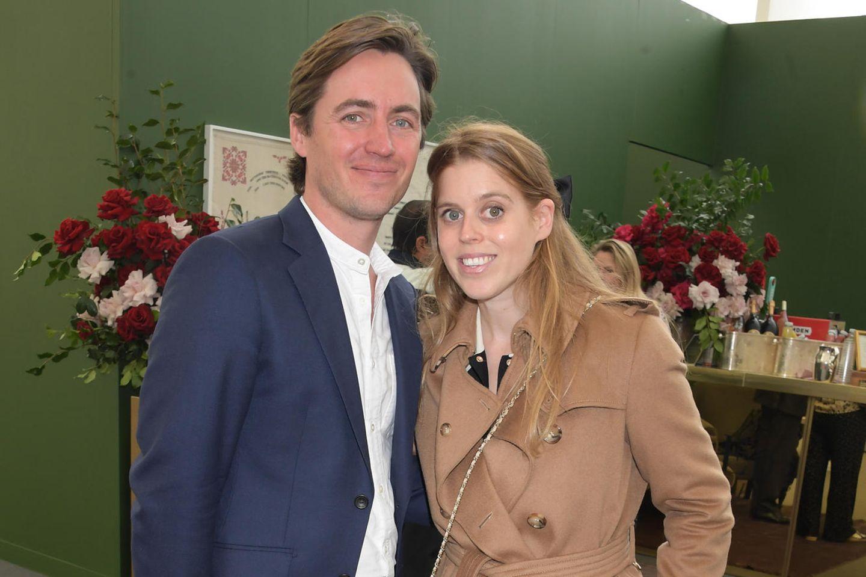 """Edoardo Mapelli Mozzi und Prinzessin Beatrice am 13. Oktober 2021 beim Event """"Frieze London Art Fair"""" in London"""