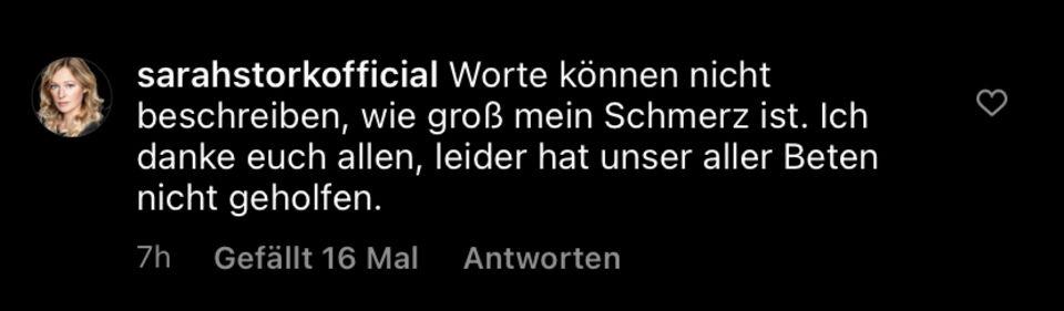 """Ex-""""Unter uns""""-Star: Todesursache von Sarah Storks Freund soll feststehen"""