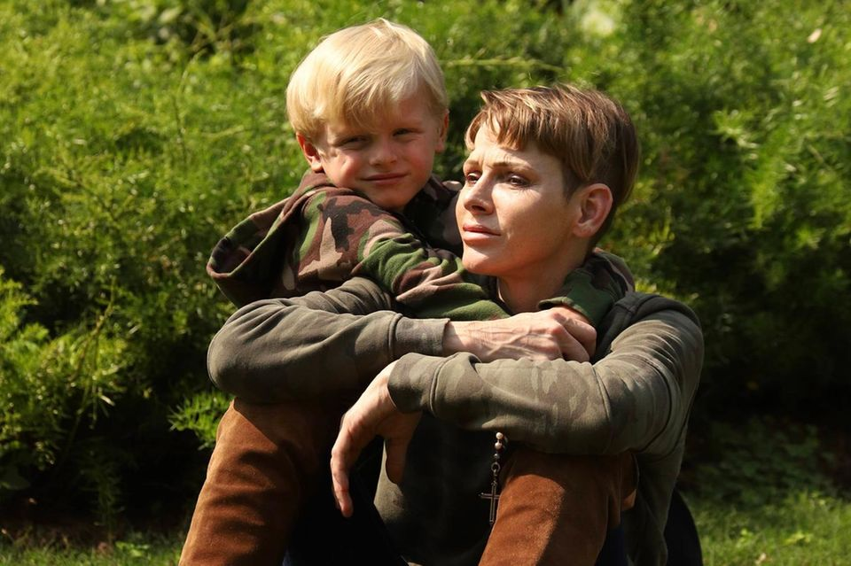 Fürstin Charlène Ende August 2021 mit Sohn Jacques in Südafrika