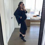 Emily DiDonato befindet sich im Endspurt ihrer Schwangerschaft. Mit der 33. Schwangerschaftswoche hat sie das dritte und damit letzte Trimester erreicht. Selbst hochschwanger setzt sie noch auf den gleichen Schwangerschaftslook wie am Anfang – das beweisen zumindest Bilder auf ihrem Instagram-Account.
