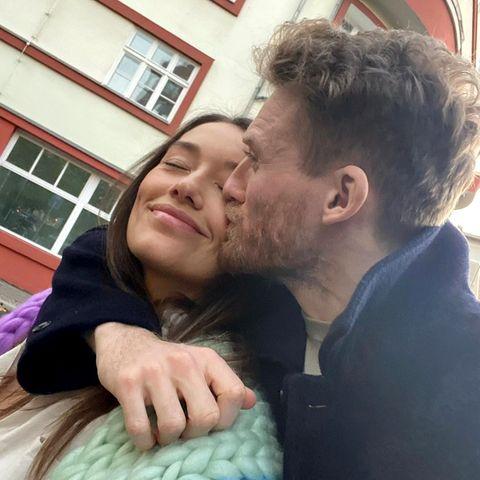 André Schürrle küsst seine Anna