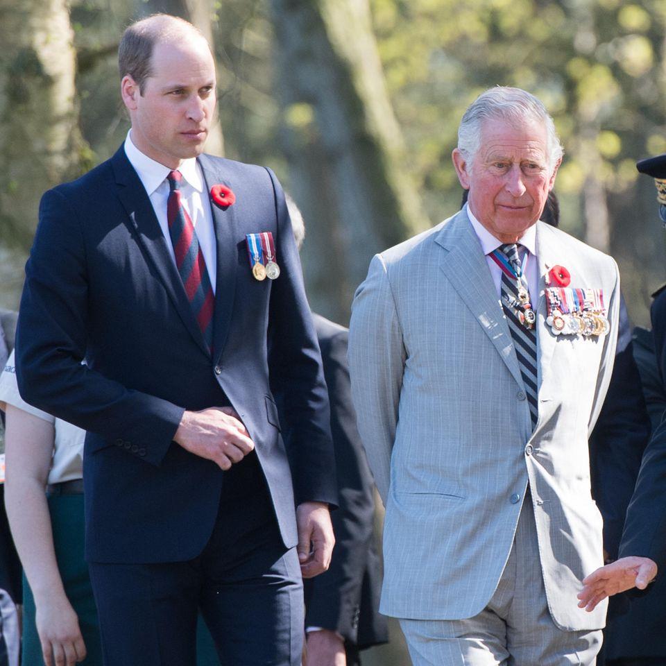 Prinz William + Prinz Charles
