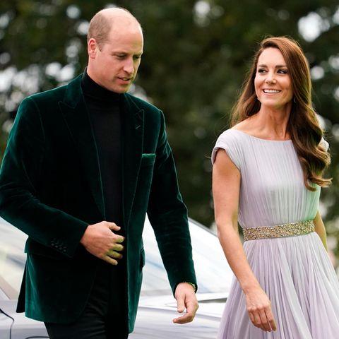 Prinz William und Herzogin Catherine auf dem Red Carpet.