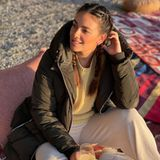 Happy Hour: Janina Uhse mit Aperitif beim Glamping am See