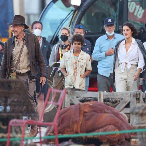 Stars am Set: Harrison Ford bei Dreharbeiten
