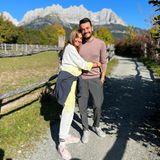 Urlaubsgrüße: Jana Ina und Giovanni Zarrella in Österreich
