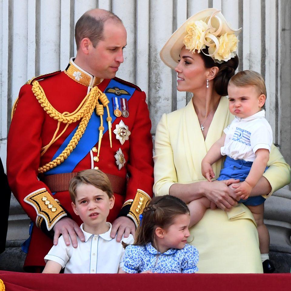 Prinz William und Herzogin Catherine mit ihren Kindern Prinz George, Prinzessin Charlotte und Prinz Louis