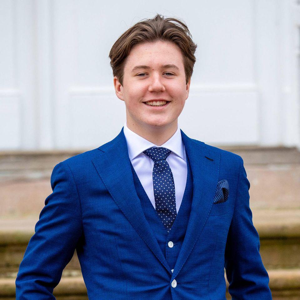 Prinz Christian lud anlässlich seines 16. Geburtstages zu einer Party ins Kanzleihaus von Schloß Fredensborg.