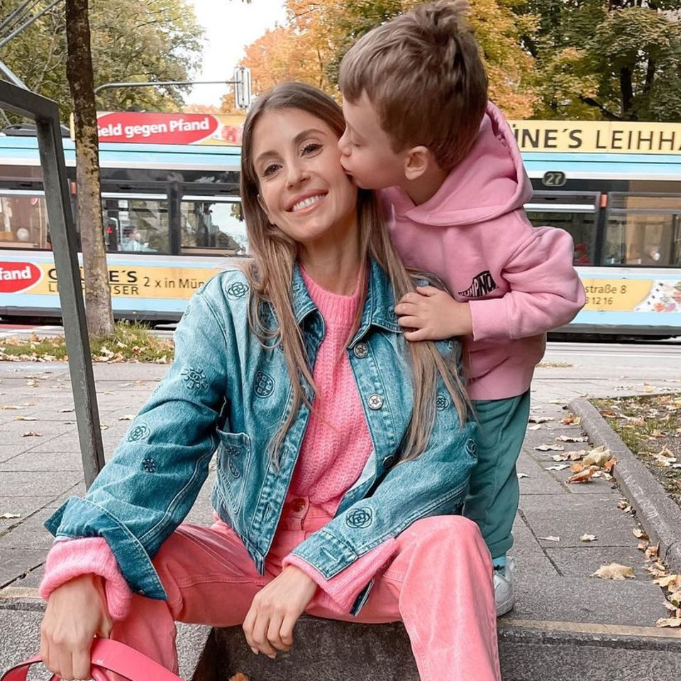 Cathy Hummels mit Sohn Ludwig