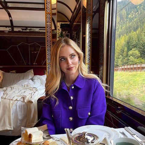 Mahlzeit: Chiara Ferragni schlemmt im Orient-Express