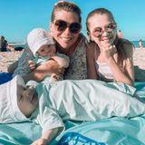 Tanja Szewczenko macht mit ihrer Familie Urlaub in Italien