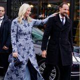 RTK: Prinzessin Mette-Marit und Prinz Haakon bei ihrer Ankunft am Munch-Museum