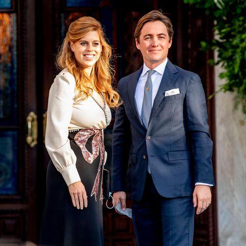 Prinzessin Beatrice und Edoardo Mapelli Mozzi auf der royalen Hochzeit von Prinz Philippos von Griechenland