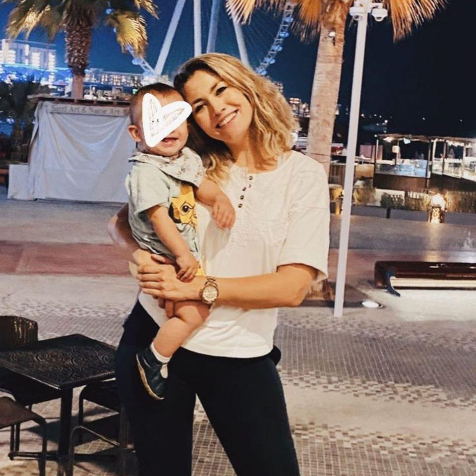 Fiona Erdmann und Sohn Leo