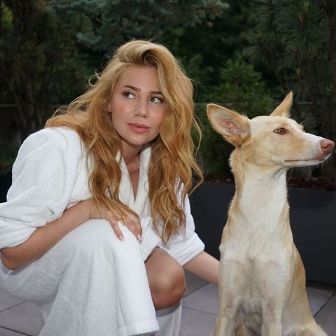 Hollywuff: Palina Rojinski mit Hund