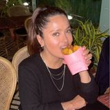 Mahlzeit: Salma Hayek mit Kartoffelecken