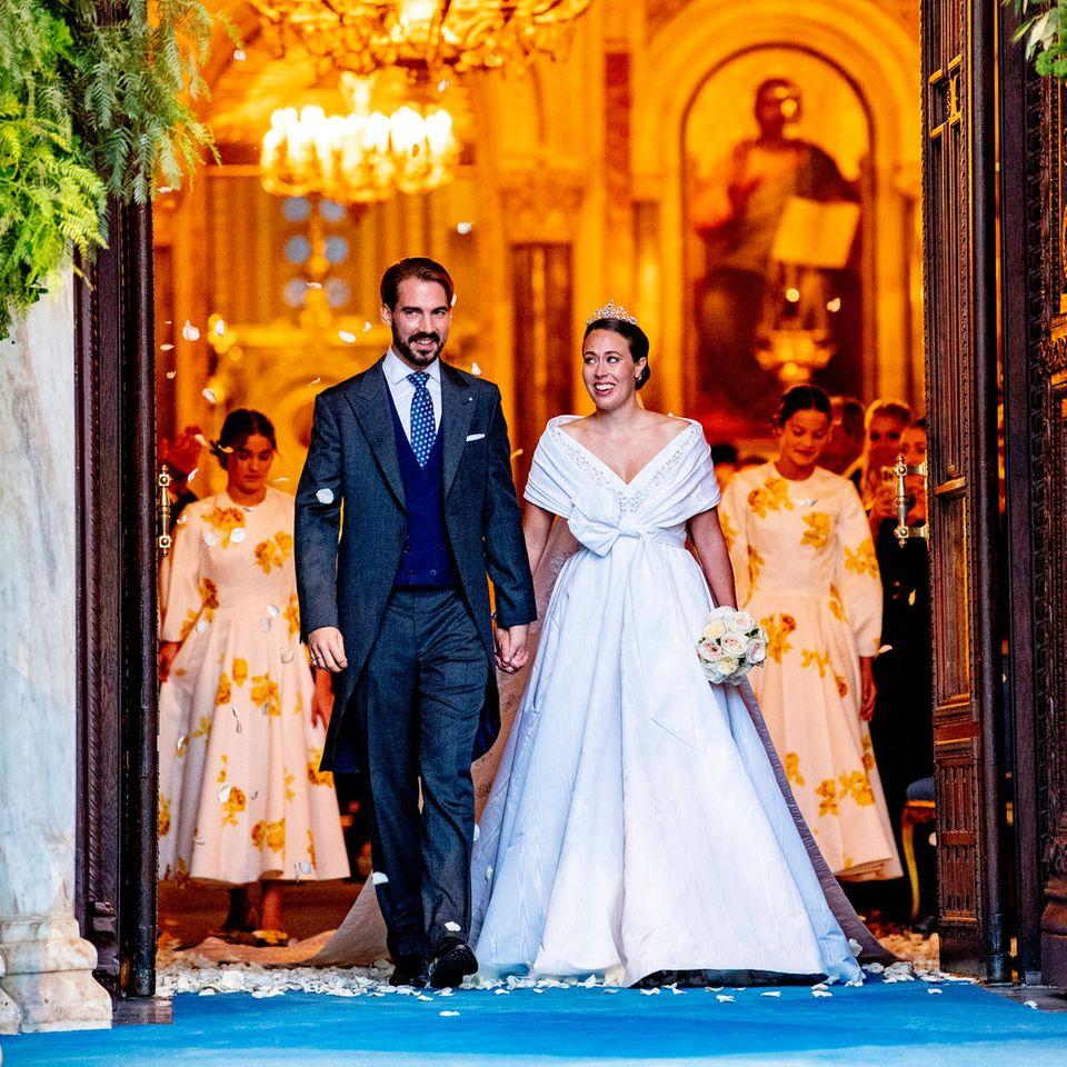 Prinz Philippos + Nina Flohr: Wie die royale Hochzeit des Jahres hinter den Kulissen ablief