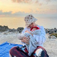 Star-Kinder: Halsey mit Sohn Ender Ridley