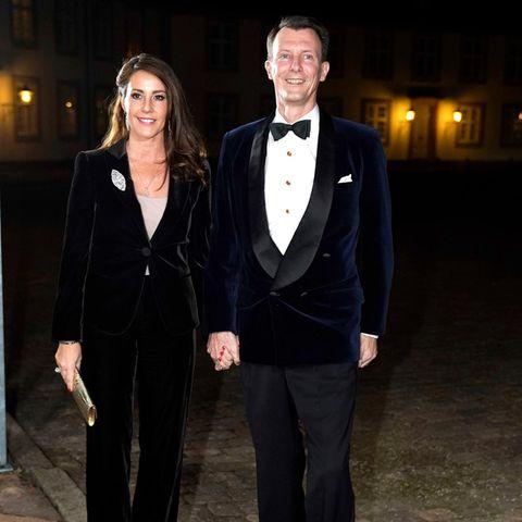 Prinzessin Marie und Prinz Joachim von Dänemark posieren für die Fotografen.