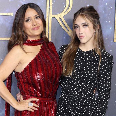 Salma Hayek und Valentina Paloma Pinault auf der Filmpremiere von ''Eternals'' in London