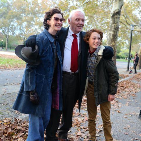 Stars am Set: Anthony Hopkins, Anne Hathaway und